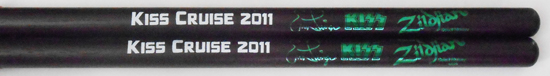 2011 KISS Kruise merchandise booth drumsticks
