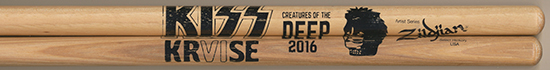 2016 KISS Kruise merchandise booth drumsticks version 2